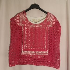 2/$20 lauren conrad knit top red